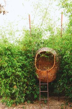 Why let birds have all the fun? This backyard nest is a perfect gateway for a child's imaginary play.