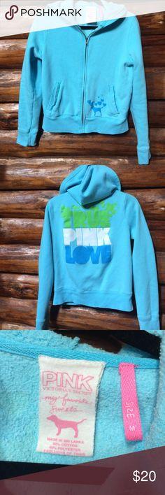 PINK Victoria's Secret sweatshirt size medium Full zip hoodie with pockets. GUC smoke free home. Bundle to save more. PINK Victoria's Secret Tops Sweatshirts & Hoodies