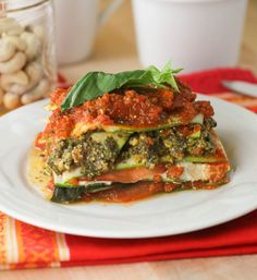The Best Raw Lasagna with Pistachio Pesto