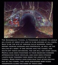 • scary creepy horror Halloween supernatural evil haunted ghost scary story creepypasta spooky paranormal haunting disturbing tennesee creepy pasta need source creepy story unsetling halloween story sensabaugh tunnel sp00kygirl •