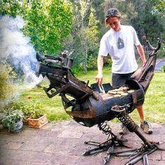 #contest hot rod grills-unusual-bbq-grill-design-dragon