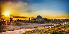 Sunset Behind The Umayyad Palace by Abdullah Suleiman