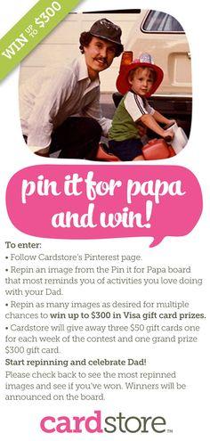 #PinitforPapa Giveaway