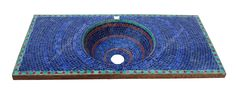 Blue Mosaic Tile Sink Imported from Morocco - MS022, www.badiadesign.com/moroccan-mosaic-tile-sink-ms022