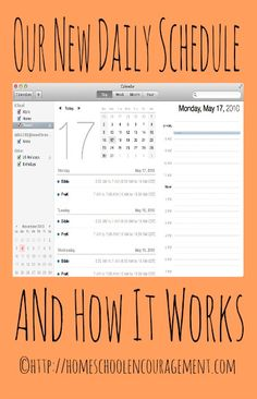 My New Daily Schedule and How It Works Homeschool Encouragement