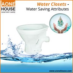 The WC is among the main sources of water consumption and therefore important to invest in closets with reduced water usage per flush. There is newer technology that is designed with a two lever flush where one lever releases water for liquid waste and a larger lever for solid waste flushing.