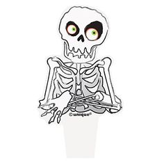Plastic Skeleton Halloween Cupcake Toppers 12ct -- Check out the image by visiting the link.