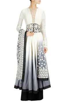 Grey shaded embroidered anarkali set BY RIDHI MEHRA. Shop now at: www.perniaspopups... #perniaspopupshop #designer #stunning #fashion #style #beautiful #happyshopping #love #updates
