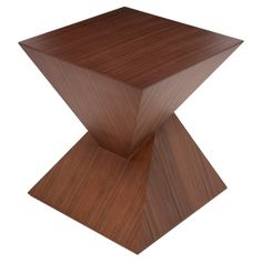 Giza Side Table - Definitely not your average end table, it's practically an optical illusion in fine furniture form! Nuevo Living's Giza is a unique geometric design that . Square Side Table, Sofa Side Table, Side Tables, Table Legs, Fine Furniture, Living Room Furniture, Modern Furniture, Furniture Design, Furniture Logo