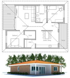 small house plan with affordable building budget and efficient