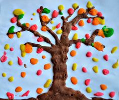 Celebrate the changing colors of fall with this puffy paint tree art project. What other objects and shapes could you capture with these paint bottles? (via Blog Me Mom)