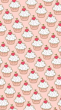 Le tag più usate per questa immagine: pattern, wallpaper, background, cupcakes . Cupcakes Wallpaper, Food Wallpaper, Kawaii Wallpaper, Cartoon Wallpaper, Wallpaper Backgrounds, Iphone Wallpaper, Textures Patterns, Print Patterns, Wallpaper Fofos