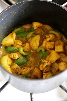 Jamaican Chicken Curry - Hotttt! This Jamaican chicken curry recipe will hit the spot if you are looking for strong and assertive flavors! Recipe, easy, main, stew, gluten free   pickledplum.com