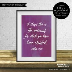 Motivation Monday – Free Weekly Printable – But what if you fly Printable Quotes, Printable Paper, Esther 4 14, What If You Fly, Subway Art, Religious Quotes, Monday Motivation, Free Printables, In This Moment