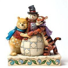 Disney tradition - Pooh and Tigger Huggng Snowman