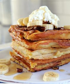 Make for Breakfast: Banana Waffle French Toast with Coconut Whipped Cream