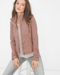 As you build your winter wardrobe collection, remember to include this washed mauve jacket with brushed zipper accents. You can work it with tailored pants or wear it with chill, distressed denim—it's just that versatile. Weather Wear, Cold Weather, Work Jackets, Winter Wardrobe, Distressed Denim, Passion For Fashion, Mauve, Fall Outfits, Autumn Fashion