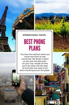 Best Phone Plans for International Travel: Wi-Fi, Hot Spots, SIM cards, Data Plans and more will keep you connected when you are traveling abroad this year International Phone, International Travel Tips, Travel With Kids, Family Travel, Phone Plans, Best Phone, Travel Information, Travel Abroad, Best Vacations