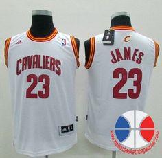 maillot basket nba enfant Cleveland Cavaliers James  23 Blanc nouveaux  tissu 22 49eeaefe3e32