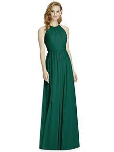 Studio Design Collection 4511 Full Length Halter Neckline Bridesmaid Dress | The Dessy Group
