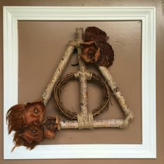 Harry Potter wreath. #deathlyhallows #harrypotter #fallwreath
