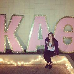 Kappa Alpha Theta letters #KappaAlphaTheta #Theta #letters #sorority