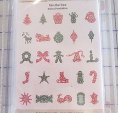 New Unopened Cricut Cartridge # 2000538 Trim the Tree Christmas FREE SHIPPING #Cricut