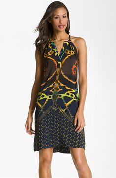 Donna Morgan V-Neck Print Crêpe de Chine Shift Dress