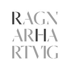 Logo for Norwegian photographer Ragnar Hartvig by Commando Group, Oslo.