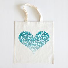 The Wedding Chicks Shop  - Ombre Hearts Wedding Tote, $10.00 (http://shop.weddingchicks.com/ombre-hearts-wedding-tote/)