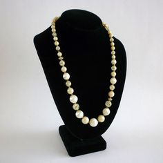 Vintage White Opalescent and Sparkly by MaisonChantalMichael, $22.00