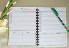 Make your own monthly calendar with twists in Bullet Journal traditional monthly…