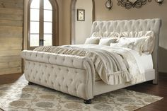 Willenburg Linen Cal. King Upholstered Sleigh Bed