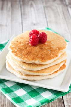 Pancakes for breakfast. Pancakes for dinner. Fluffy gluten free pancakes. Smothered in maple syrup and topped with fresh fruit. It's always a good time for pancakes in our house! I've m…