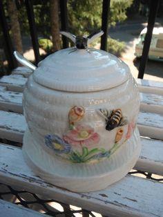 Bee Skep Vintage Honey Jam Pot Via Etsy