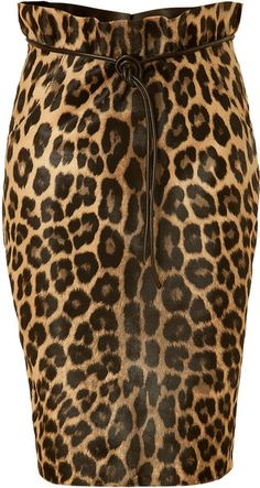 Valentino Print Calf Hair Skirt
