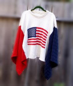 American Flag Sweater Wrap Poncho Designed and by KheGreen on Etsy, $125.00