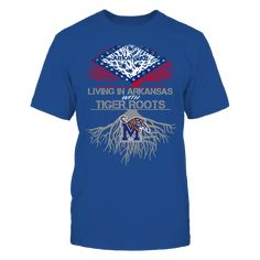 Memphis Tigers - Living Roots Arkansas T-Shirt, TIP: If you buy 2 or more (hint: make a gift for someone or team up) you'll save quite a lot on shipping.  Click the GREEN BUTTON, select your size and style.  The Memphis Tigers Collection, OFFICIAL MERCHANDISE  Available Products:          Gildan Unisex T-Shirt - $24.95 Gildan Women's T-Shirt - $26.95 District Men's Premium T-Shirt - $27.95 District Women's Premium T-Shirt - $29.95 Next Level Women's Premium Racerback Tank - $29.95 Gildan…