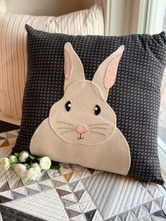 You searched for Bunny pillows Buy Pillows, Applique Pillows, Wool Applique, Rabbit Crafts, Easter Pillows, Primitive Gatherings, Small Sewing Projects, Christmas Sewing, Quilted Pillow