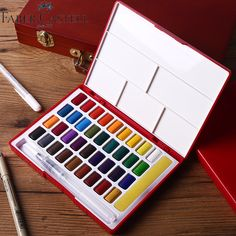 Faber-castell Farbe Solide Aquarell Box Mit Pinsel Helle Farbe Tragbare… Sponsored Sponsored Faber-castell Color Solid Watercolor Box With Brush Bright Color Portable Watercolor Pigment Set Art Supplies Faber Castell, School Supplies, Art Supplies, Watercolor Paint Set, Watercolour Palette, Watercolor Pattern, Cool Paintings, Painting Art, Dream Art