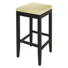 Hew Padded Stool - Wood and Faux Leather (2)