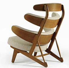 "c. 1958 Rare ""Pyramid"" Chair | Design: Poul..."