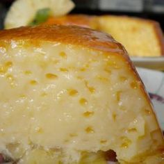 Flan pineapple 1 large can of pineapple in juice condensed milk 4 eggs pint milk 4 tablespoons sugar Sweet Desserts, Sweet Recipes, Delicious Desserts, Yummy Food, Mexican Food Recipes, Dessert Recipes, Latin Food, I Foods, Cupcake Cakes
