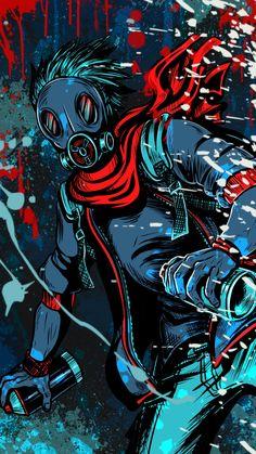 Graffiti Wallpaper Iphone, Pop Art Wallpaper, Trippy Wallpaper, Cartoon Wallpaper, Gas Mask Art, Masks Art, Joker Wallpapers, Gaming Wallpapers, Graffiti Art