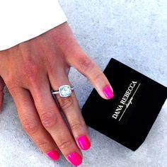 Dana Rebecca Designs Bridal - Cushion Halo Engagement Ring with 1.02 Ct. Cushion Center (GIA)
