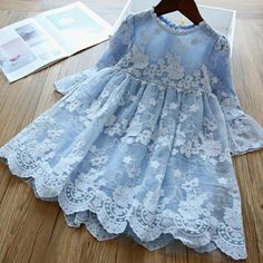 Elegant Flower Girls Dress Wedding Party Princess Dress Casual Kids Clothes Lace Long Sleeves Dress Children's Vestidos For Girls Lace Dress, Wedding Dresses For Girls, Girls Dresses, Dress Wedding, Girls Easter Dresses, Dress Lace, Winter Dresses For Girls, Easter Dresses For Toddlers, Elsa Dress