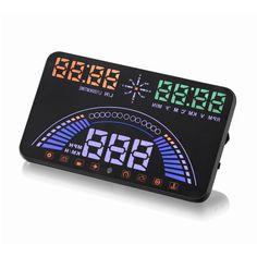 """5.8"""" Large Screen HUD Head Up Display Combing OBD and GPS Two Systems Engine Fault Alarm Dynamic Speed Over Speeding Warning"""