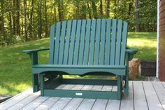 Love seat glider in Hunter green #faircapewoodworks