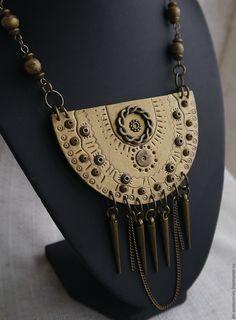 """Купить Колье """"Принцесса майя 2"""" - золотой, бронзовый цвет, колье ручной работы"""