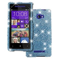 HTC Windows Phone 8X Teal to Silver Fade Diamante Bling Case $9.95 - Way too much in my opinion
